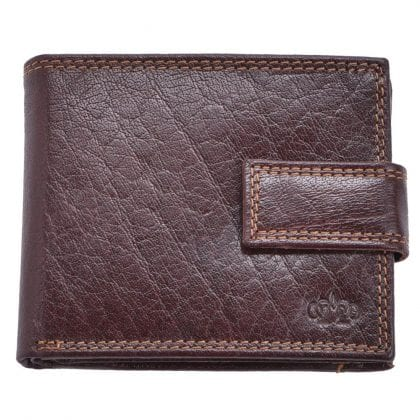 Arnicus Mens High Quality Genuine Grained Leather Flip Wallet - Main