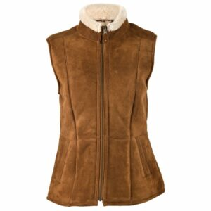 Ladies Luxury Suede Gillet - Body Warmer