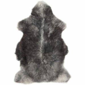 British Premium Quality Large Genuine Herdwick Sheepskin Rug in Natural Greys - Front