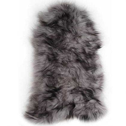 Long Wool Icelandic Black Tipped Sheepskin Rug - Main