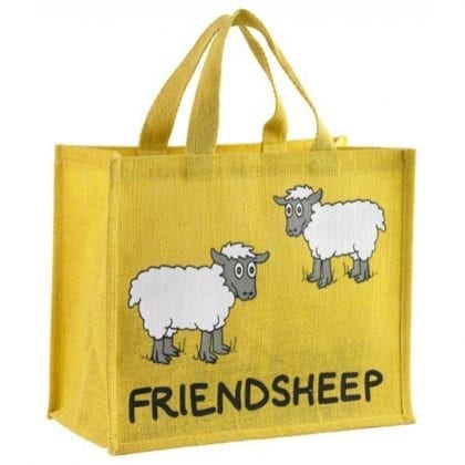 'Friend Sheep' Re-usable Jute Shopping Bag