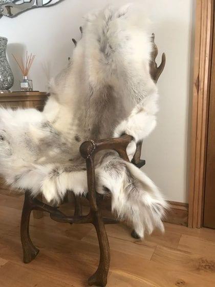 Grade A Medium Genuine Reindeer Hide in Light Natural Shades - Lifestyle
