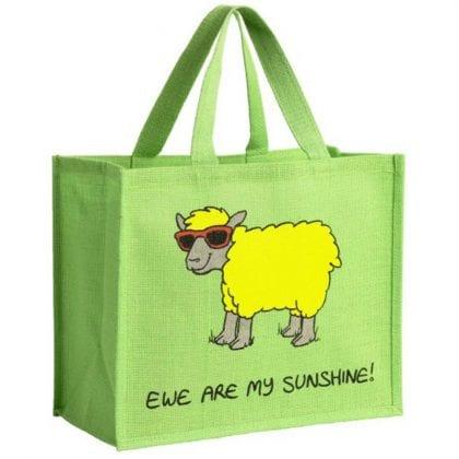 'Ewe Are My Sunshine' Re-usable Jute Shopping Bag