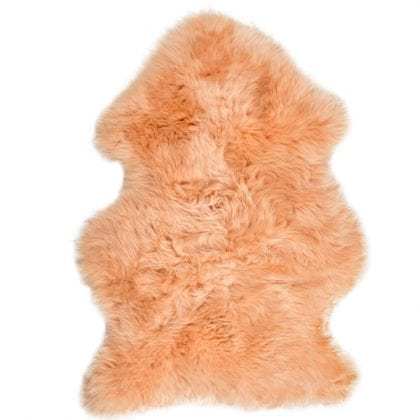 British Premium Quality Butter Cream Sheepskin Rug-0