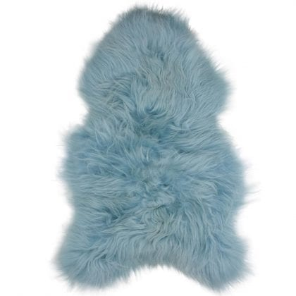 Long Wool Icelandic Aqua Sheepskin Rug - Main