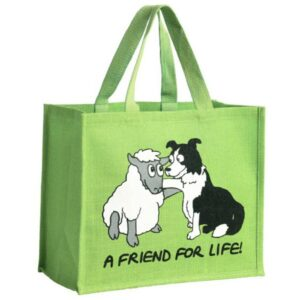 'A Friend For Life' Re-usable Jute Shopping Bag
