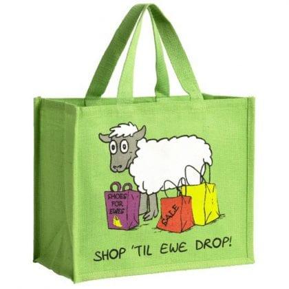 'Shop Till Ewe Drop' Re-usable Jute Shopping Bag