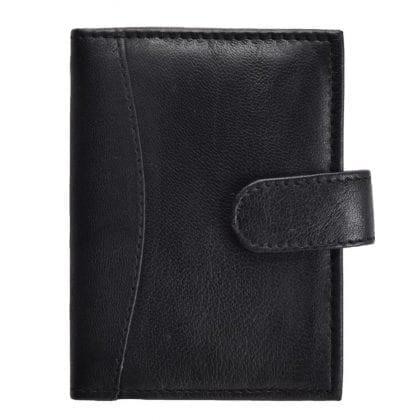 Genuine Leather Plastic Sleeve Card Holder-0