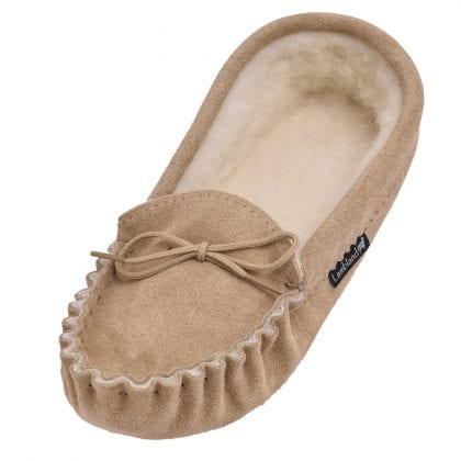 Ladies Luxury Premium Soft Sole Moccasin Slippers-0