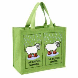 'British Summer' Re-usable Jute Shopping Bag