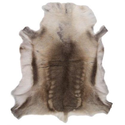 Grade A Medium Genuine Reindeer Hide in Light Natural Shades - Main