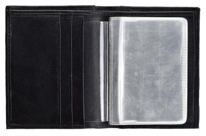 Arnicus Mens Genuine Leather Card Wallet - Holder - Open