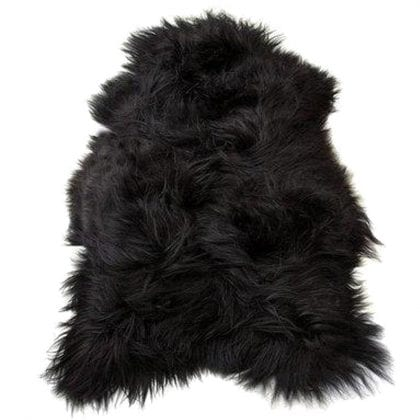 Long Wool Icelandic Black Sheepskin Rug - Main