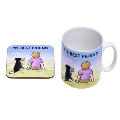 'My Best Friend' Mug and Coaster Gift Set