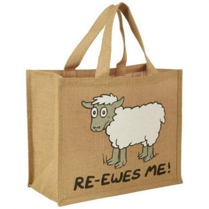 'Re-Ewes Me' Re-usable Jute Shopping Bag