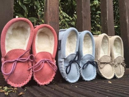 Childrens Premium Wool Lined Moccasins-193987