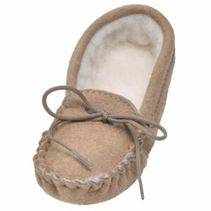 Childrens Premium Wool Lined Moccasins-0
