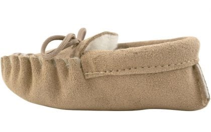 Genuine Suede and Lambswool Moccasins for Babies - Side