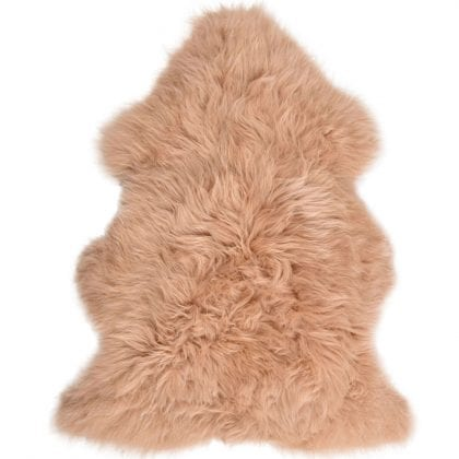 British Premium Quality Warm Beige Sheepskin Rug-0