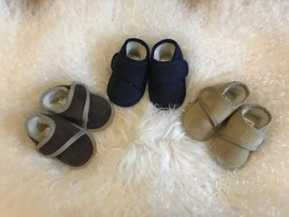 Genuine Suede and Lambswool Ripper Fastened Baby Booties - Lifestyle