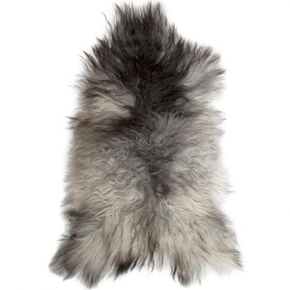 Long Wool Icelandic Natural Grey Sheepskin Rug - Main