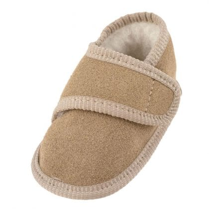 Genuine Suede and Lambswool Ripper Fastened Baby Booties - Main