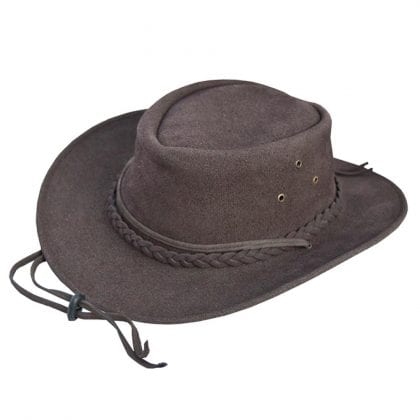 Wombat Leather Soft Foldable Lightweight Washable Hat - Front
