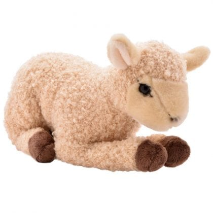 Premium Realistic Soft Lying Lamb Toy-0