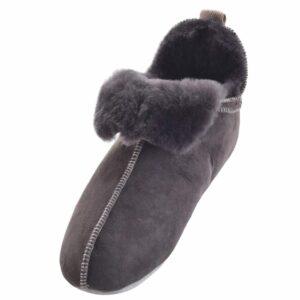 Ladies Genuine Sheepskin Soft Sole Boot Slipper by Shepherd of Sweden-0