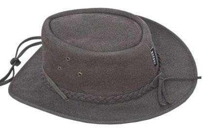 Wombat Leather Soft Foldable Lightweight Washable Hat - Back