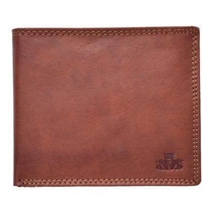 Mens High Quality Genuine Leather Flip Over Wallet by Rowallan - Main