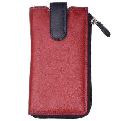 Unisex Genuine High Quality Leather Glasses Case with Wallet Compartment