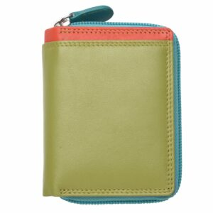 Ladies High Quality Genuine Leather Small Zip Round Purse