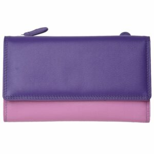 Ladies Super Soft Genuine Leather Tri-Fold Purse Wallet