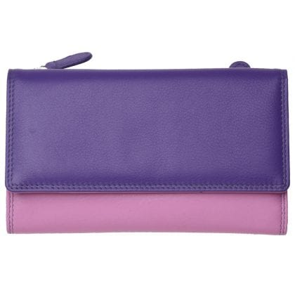 Ladies Super Soft Genuine Leather Tri-Fold Purse Wallet