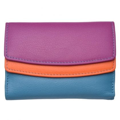 Ladies Super Soft Dual Opening Genuine Leather Purse