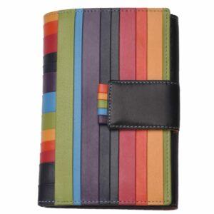 Ladies Deluxe Medium Striped Leather Organiser Purse