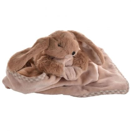 Jomanda Super Soft Toy Soother Blanket - Brown Bunny