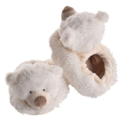 Jomanda Super Soft New Born Baby Booties with Cute Bear Faces-0