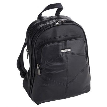 Ladies Genuine Lightweight Leather Backpack - Rucksack