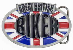 Great British Biker Pewter Belt Buckle-0
