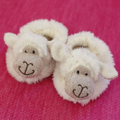 Jomanda Super Soft New Born Baby Booties with Cute Sheep Faces-88129