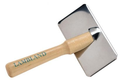 Sheepskin Rug Slicker Brush with Wooden Handle - Top