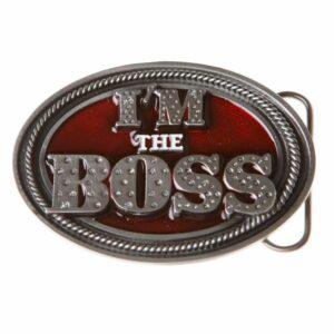 Im the Boss Pewter Belt Buckle-0