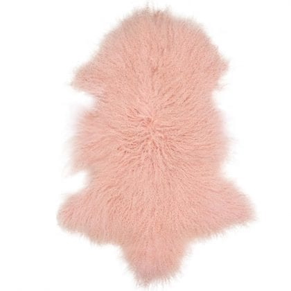 High Quality Tibetan - Mongolian Lamb Skin in Pink - Main