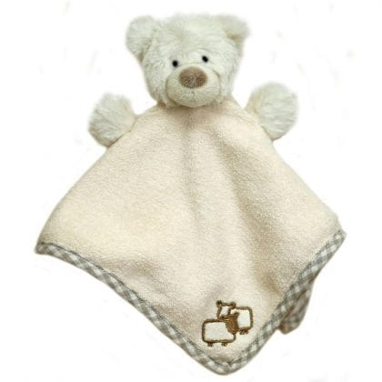 Jomanda Super Soft Baby Comforter and Soother - Bear-0