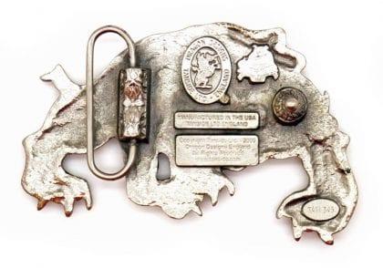 'Spike' Bulldog Pewter Belt Buckle-88995