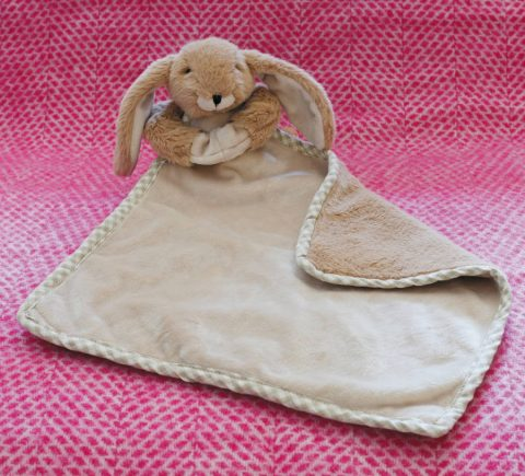 Jomanda Super Soft Toy Soother Blanket - Brown Bunny - Lifestyle