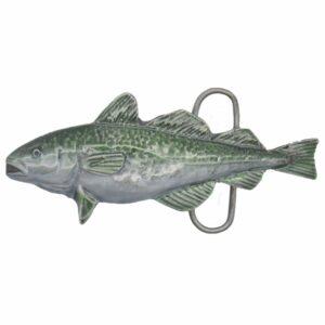 Fishing - Cod Pewter Belt Buckle-0