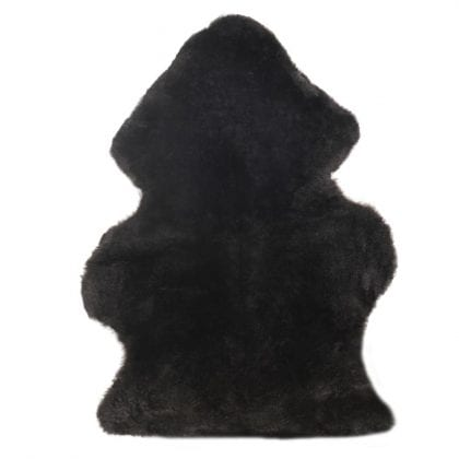 British Premium Quality Medical Sheepskin Rug in Black